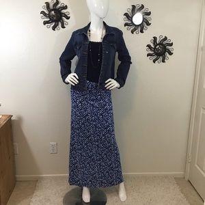 Laundry by Design Blue Maxi Skirt Strapless Dress